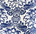 10 yards Flocking Taffeta Fabric Roll - Royal Blue & White