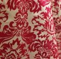 40 yards Flocking Taffeta Fabric Roll - Fuchsia & White
