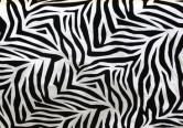 10 yards Flocking Taffeta Fabric Roll - Zebra