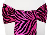 Flocking Sash - Zebra (Fuchsia & Black)