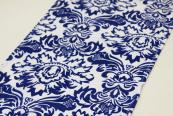Flocking Taffeta Runner - Royal Blue & White