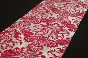 Flocking Taffeta Runner - Fuchsia & White