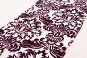 Flocking Taffeta Runner - Plum & White
