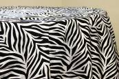 "Flocking Taffeta 132"" Tablecloth - Zebra"