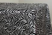 "90""x132"" Flocking Tablecloth - Zebra"